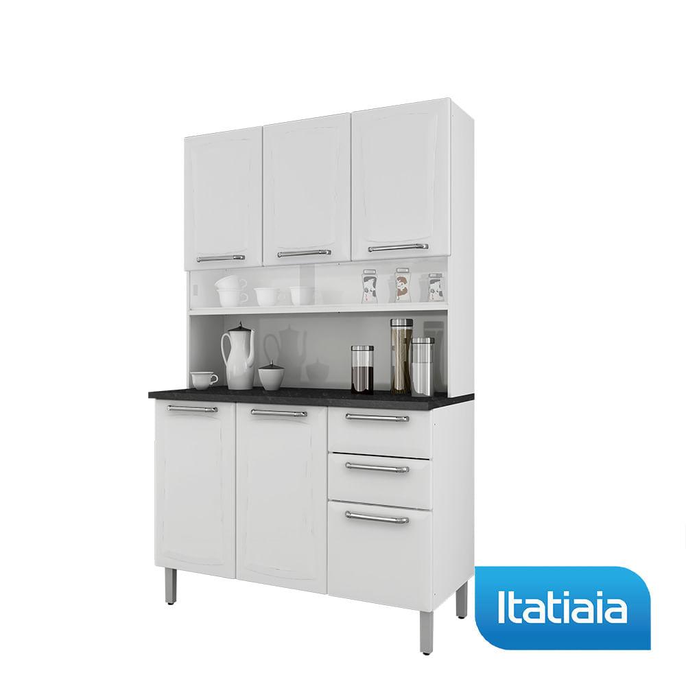 Cozinha Compacta Regina Largura 120 Cm Branco A O Itatiaia
