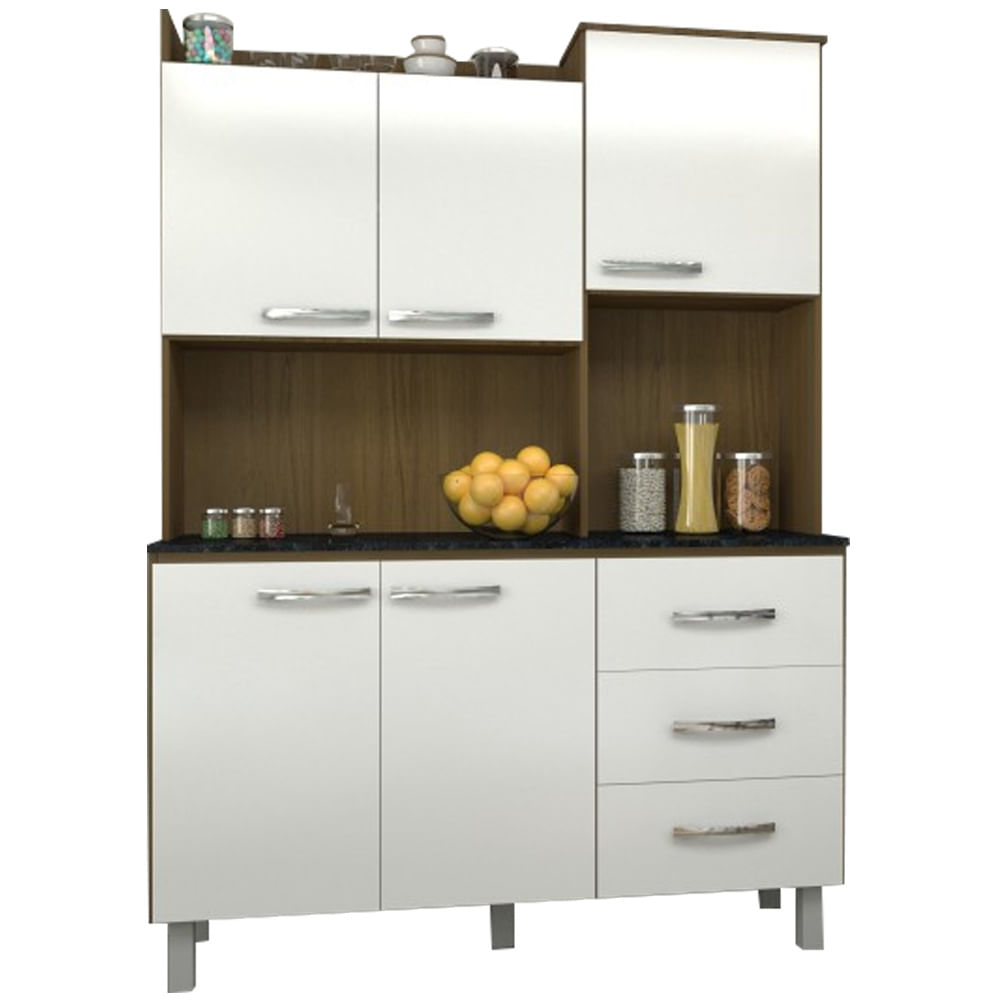 Cozinha Compacta Kit Cris Ip Uv Touch Com Branco Uv Sonoshowmoveis