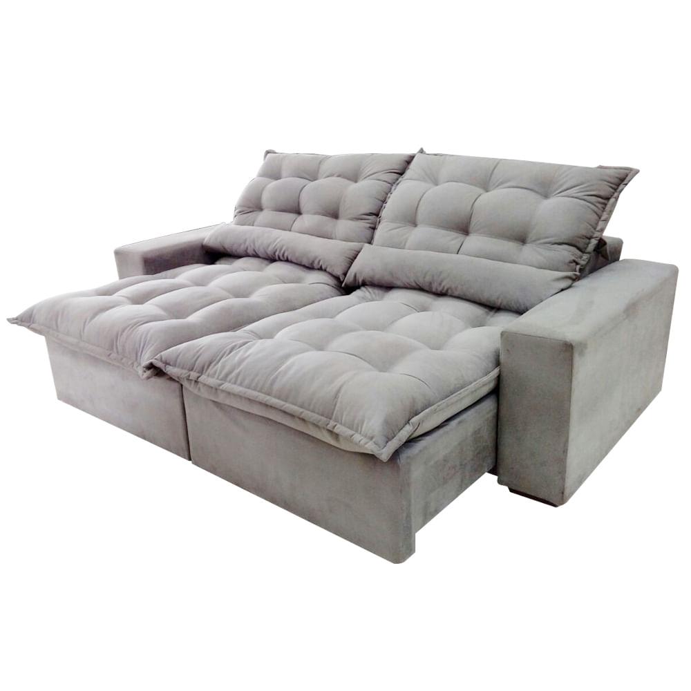 sof s o paulo 3 lugares retr til e reclin vel capuccino 250 cm sonoshowmoveis. Black Bedroom Furniture Sets. Home Design Ideas