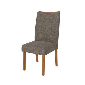 Cadeira-Serena-2-Pecas---Carvalho-Americano-com-Linho-Bronze