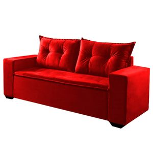 Sofa-Monaco---3-lugares---Cor-361---Vermelho