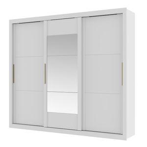 Guarda-Roupa-Argos-com-Espelho---3-portas---Branco-ou-Branco-com-Native