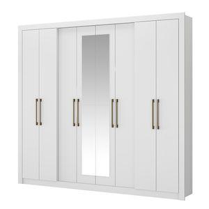 Guarda-Roupa-Hester-com-Espelho---8-portas---Branco