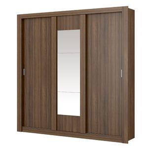 Guarda-Roupa-Elus-com-Espelho---3-portas---Ebano-ou-Ebano-com-Atacama