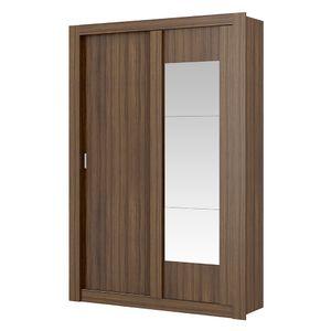 Guarda-Roupa-Elus-com-Espelho---2-Portas---Ebano-ou-Ebano-com-Atacama