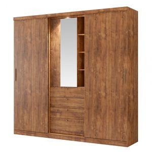 Guarda-Roupa-Zeus-com-Espelho---2-portas---Native